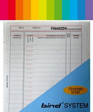 Bind System Finanzen / Ausgaben
