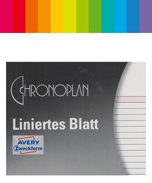 Chronoplan Notizen Liniert