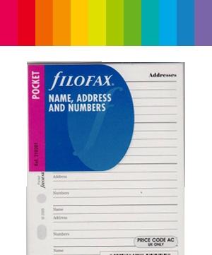 Filofax Adressen / Kontakte