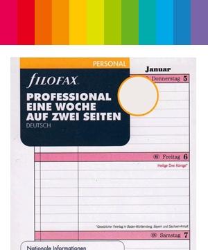 Filofax Personal / A6 Kalender