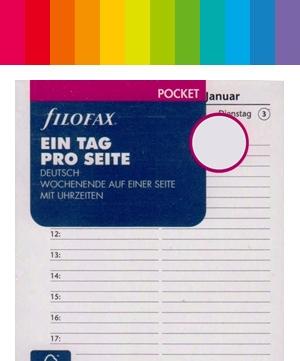 Filofax Pocket / A7 Kalender