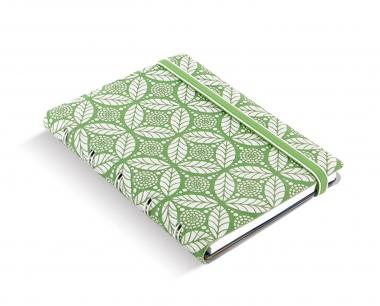 Filofax Notebook Pocket Impressions Grün + Weiß Notizbuch Spiralbindung 115045