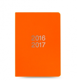 Letts Dazzle A6 Orange 1Tag/1Seite akad Kalender 2016/17 Schülerplaner 17-030351