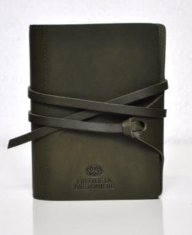 Succes Vintage Mini Olive Grün Organiser Leder A8 Ringbuch Bretoniere FM220VF14