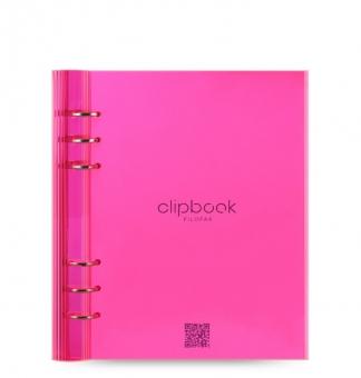 Filofax Clipbook Live Edge A5 Pink Kunststoff 023613 Notizbuch mit 6er Ringung