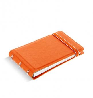 Filofax Notebook Smart Orange 115018 Mini Notizbuch softes Kunstleder-Cover NEU