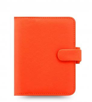 Filofax Saffiano Pocket Bright Orange Terminplaner VL 19mm A7 Organiser 022593
