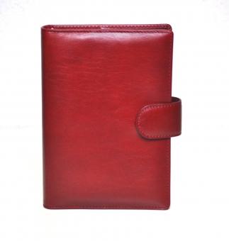 Succes Deluxe Standard Rot Organiser Leder A6 Kalender Terminplaner PT214DL12