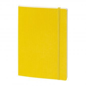 bsb Notizbuch A5 Softcover Gelb Strukturiert Gummiband 192 Seiten Blanko 909-012