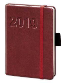 bsb V-Book A6 Rot 2019 Buchkalender 1Woche/2Seiten Terminkalender 02-0131