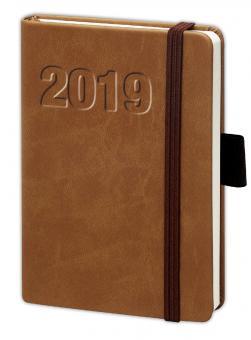 bsb V-Book A6 Braun 2019 Buchkalender 1Woche/2Seiten Terminkalender 02-0132