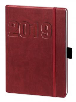 bsb V-Book A5 Rot 2019 Buchkalender Terminkalender multi 1Woche/2Seiten 02-0147
