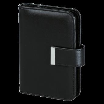 bsb Terminplaner A7 Pocket Schwarz Personal Organizer Timer Kunstleder 02-0253
