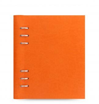 Filofax Clipbook A5 Orange Kunstleder Notizbuch 25mm Ringung umklappbar 026019