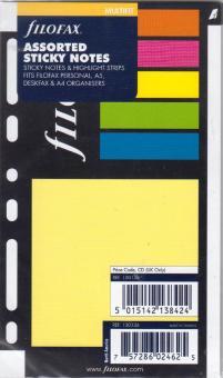 Filofax Haftnotizen & Highlight Strips Post-it Klebezettel Sticky Notes 130136