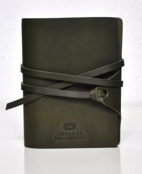 Succes Vintage Mini Olive Grün Organizer Leder A8 Ringbuch Bretoniere FM220VF14