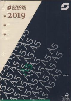 Succes A5 Executive 2019 Wochenblätter 7Tage/2Seiten Cream 4-sprachig XEQ7C.19