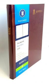 RYAM 2019 Quintet 4 Bordeaux A4 Terminkalender 1Tag/1Seite 6-sprachig 86753033