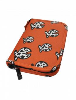 IQ Logbuch Allover Fish Taucherlogbuch XS Orange ZIP Polyester kompl. 4336022280