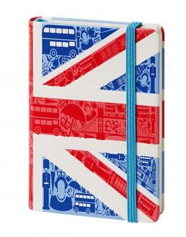 bsb Notizbuch A6 Union Jack London 192 Seiten blanko Gummibandverschluss 907-001
