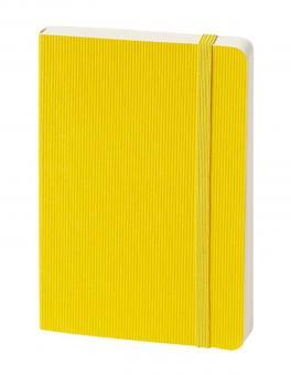 bsb Notizbuch A6 Gelb 192 Seiten blanko Gummibandverschluss Softcover 907-006