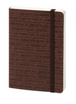 bsb Notizbuch A6 Braun blanko 192 Seiten Flexibles Softcover mit Prägung 907-015
