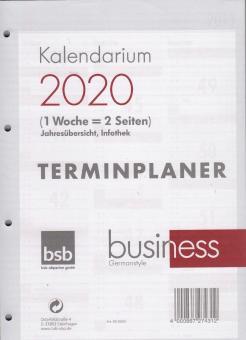 bsb 2020 A4 Kalendereinlage Wochenkalender Kalender 1Woche 2Seiten Timer 02-0655