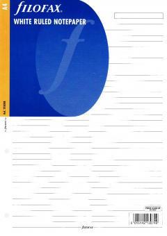 Filofax A4 Kalendereinlage Liniert Notizpapier NotizblätterZusatzeinlage 293008