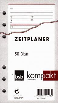 bsb kompakt A6 Adressen Kontakte Notizblätter Ringbuch Einlage 50 Blatt 02-0062