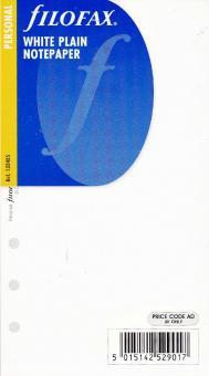 212405 Filofax Einlage Pocket weiße Notizblätter blanko
