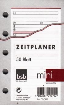 bsb Mini Adressen - Kontakte Terminplaner A8 Refill Einlage weiß 50Blatt 02-0198
