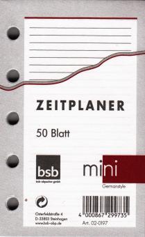 bsb Mini Notizpapier LINIERT Terminplaner A8 Refill Einlage weiß 50Blatt 02-0197