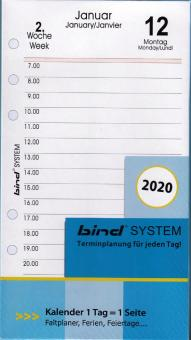 Bind System A6 2020 Tageskalender Kalendarium 1Tag 1Seite Tagesblätter B260320