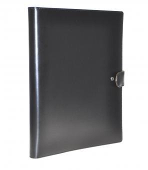 Succes Bitra Batra Schreibmappe A4 Schwarz Leder 20mm Konferenzmappe PB148BA02