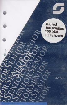 Succes Senior Notizpapier Blanko Weiß 100 Blatt 95x150 Terminplaner Einlage XS52