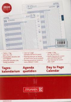 Brunnen A5 Business 2020 Tageskalendarium 1T/1S Tagesplaner 4-sprachig 107900120