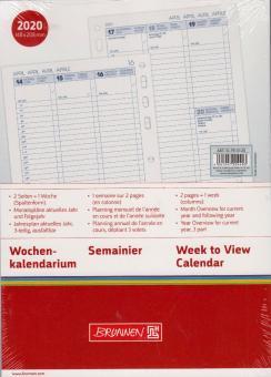 Brunnen A5 2020 Wochenkalender 1Woche 2Seiten vertikal Kalendarium 10-7910120
