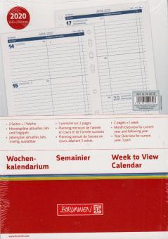 Brunnen A5 Business 2020 Wochenkalendarium 1W/2S Wochenplan 4-sprachig 107910020