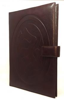 A4 Konferenzmappe Leder Succes Classic Braun Luxus Schreibmappe Folder AB131SF01