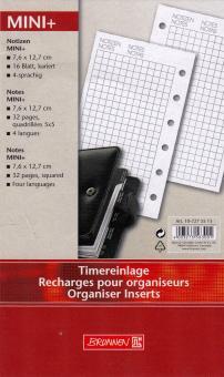 Brunnen Mini+ Timereinlage Notizen Kariert 16 Blatt für A7 Organizer 10-7275513