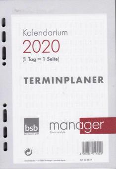 bsb A5 2020 Kalender Einlage 1Tag 1Seite Tageskalender Kalendarium Timer 02-0049