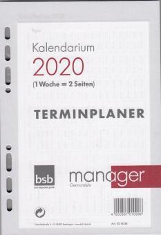 bsb A5 2020 Kalendereinlage 1Woche 2Seiten Kalendarium Wochenkalender 02-0048