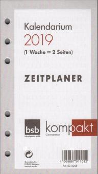 bsb kompakt A6 Kalender Einlage 2019 1Woche/2Seiten Kalendarium 8-18 DEU 02-0058