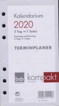 bsb A6 2020 Kalender Einlage Kalendarium 1Tag 1Seite Tageskalender Timer 02-0059