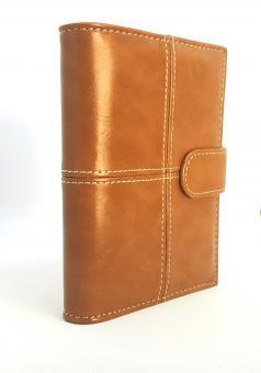 bsb Terminplaner A7 Pocket Organizer Planer Braun Beige Zeitplaner Agenda 020251