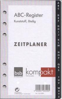bsb ABC Register A6 Kalendereinlage Kunststoff Terminplaner Timereinlage 02-0089