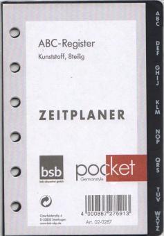 bsb ABC Register Pocket A7 Kalendereinlage Zusatz Einlage Terminplaner 02-0287