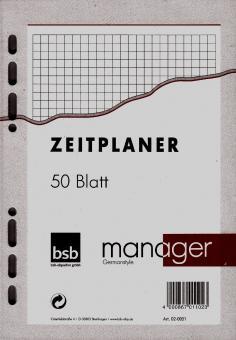 bsb manager A5 Terminplaner Zusatzeinlage KARIERT Notizpapier 50 Blatt 02-0051