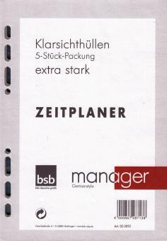 bsb manager A5 Terminplaner Zusatzeinlage 5 Sichthüllen Klarsichthüllen 02-0092