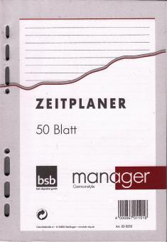 bsb manager A5 Terminplaner Zusatzeinlage LINIERT Notizpapier 50 Blatt 02-0050